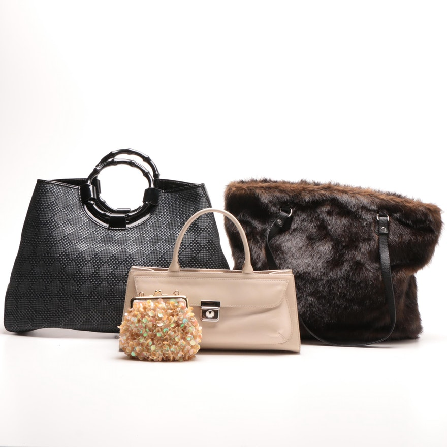 53da1346adf Donna Salyers Fabulous Furs Tote Bag and Other Handbags : EBTH