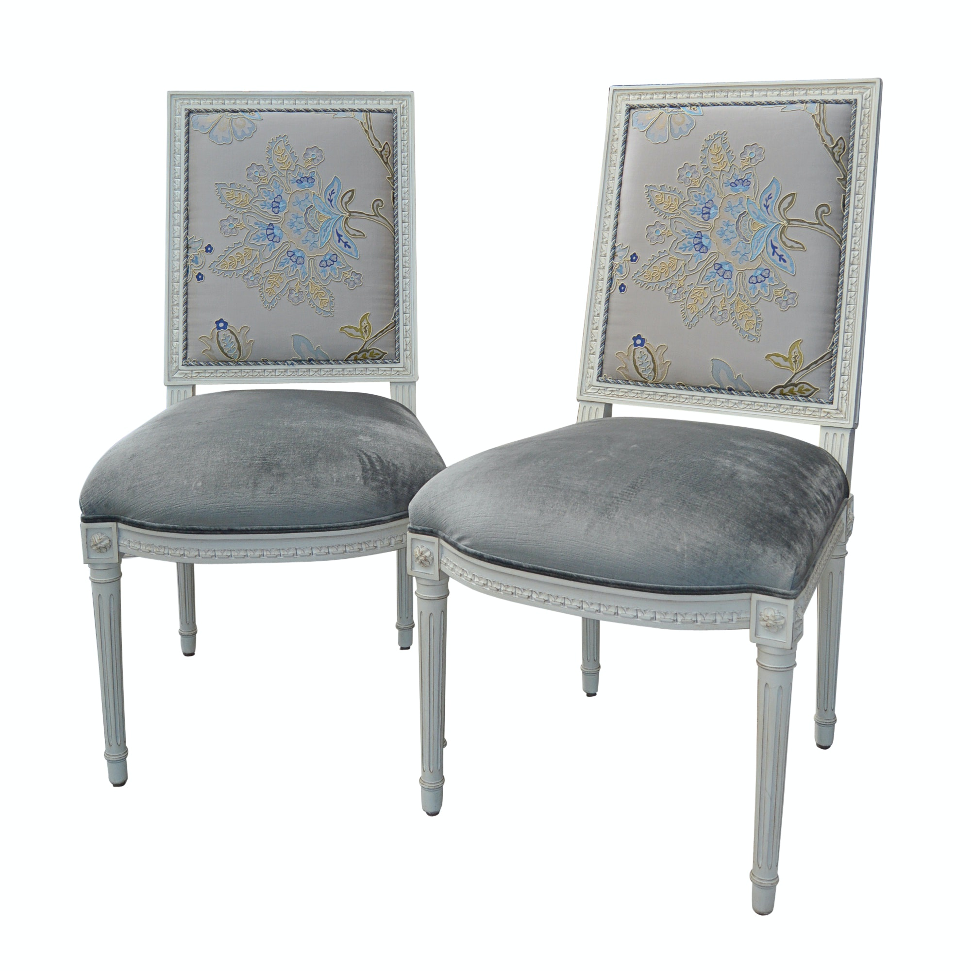 Pair of Louis XVI Style Side Chairs from Louis J. Solomon