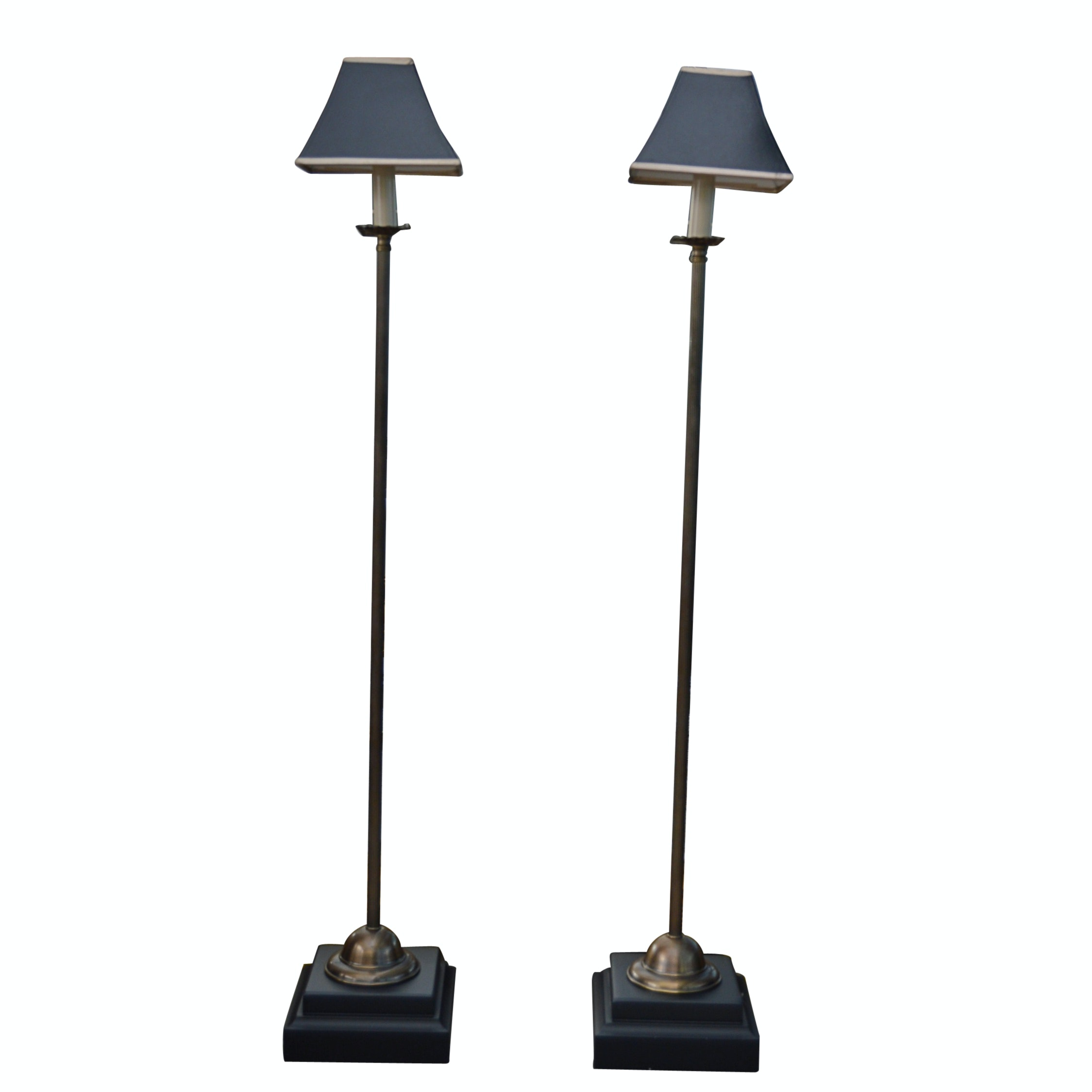 Candlestick Floor Lamps with Shades