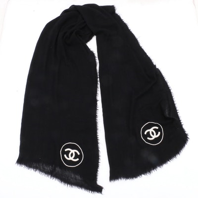 028153801cc06 Chanel Cashmere and Silk Blend Scarf