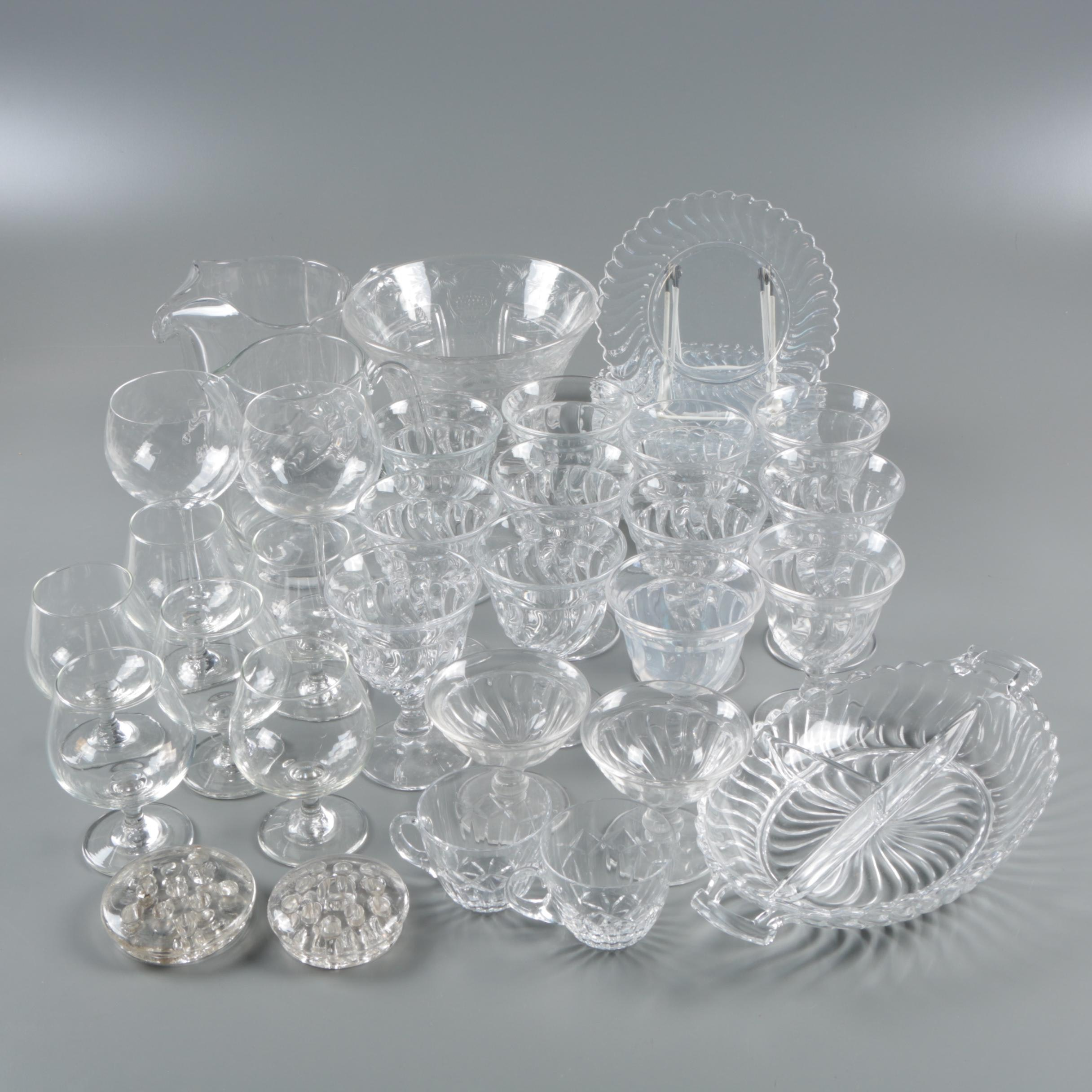 """Fostoria """"Colony"""" Stem and Tableware with Assorted Glass Tableware"""