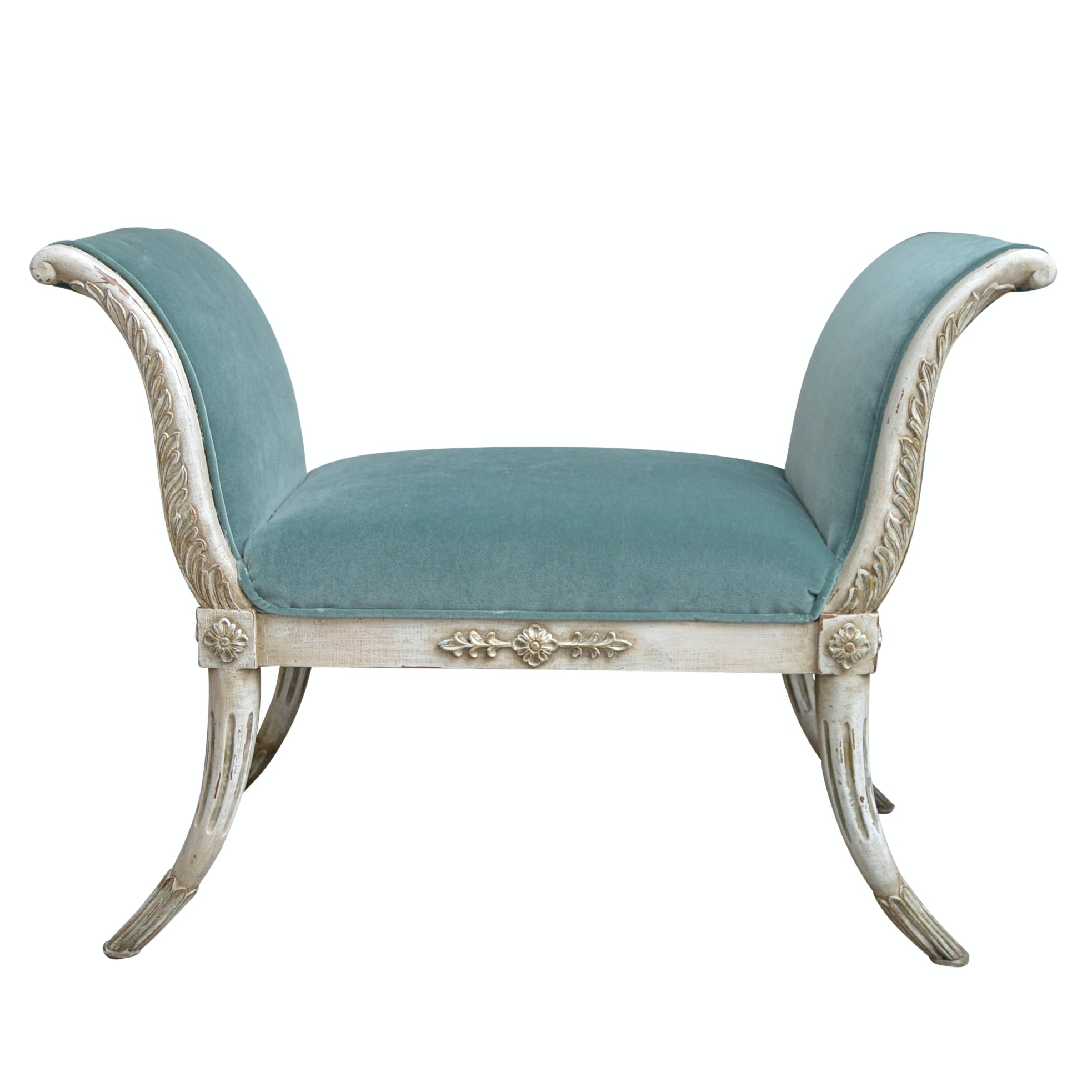 Neoclassic Style Curule Bench by John-Richard