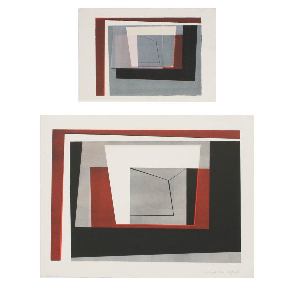"""Donald Roberts Early 1960s Serigraph Prints """"Black Project"""" and """"Proof"""""""