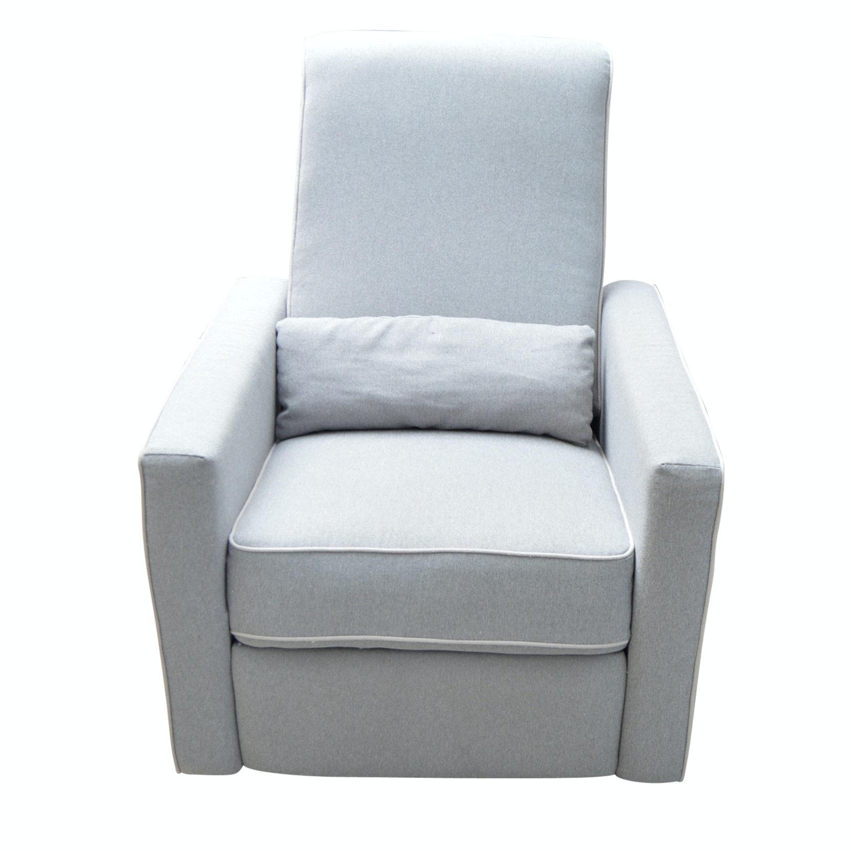 Contemporary Grey Reclining Chair From Wayfair ...