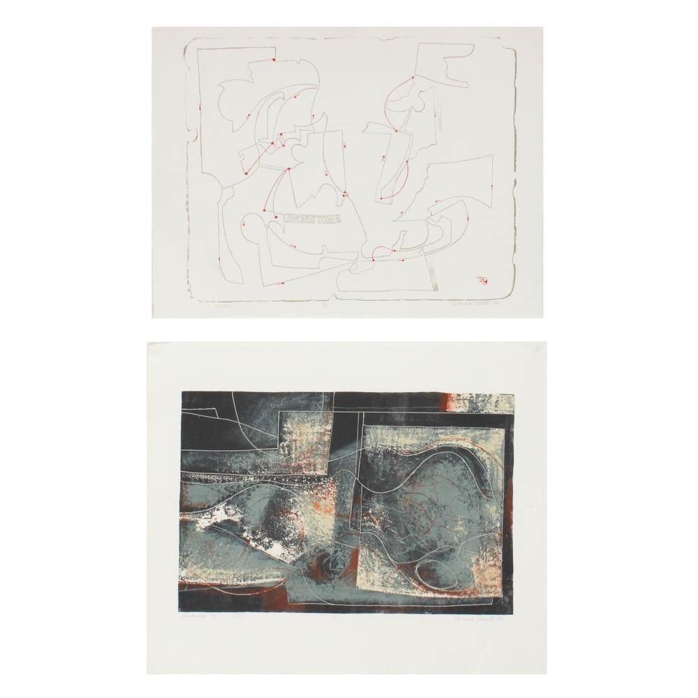 "Donald Roberts 1958 - 59 Serigraph Prints ""Ironstone"" and ""Landscape #4"""
