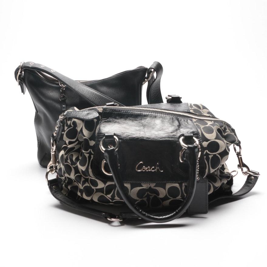 Coach Slim Legacy Duffle Shoulder Bag and Signature Ashley Satchel ... b5547a8248