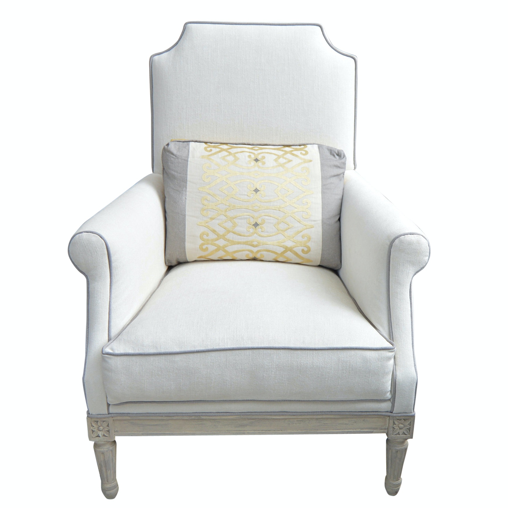 Louis XVI Style Upholstered Armchair from John-Richard