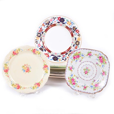 Collection of Vintage and Contemporary Plates and Platters