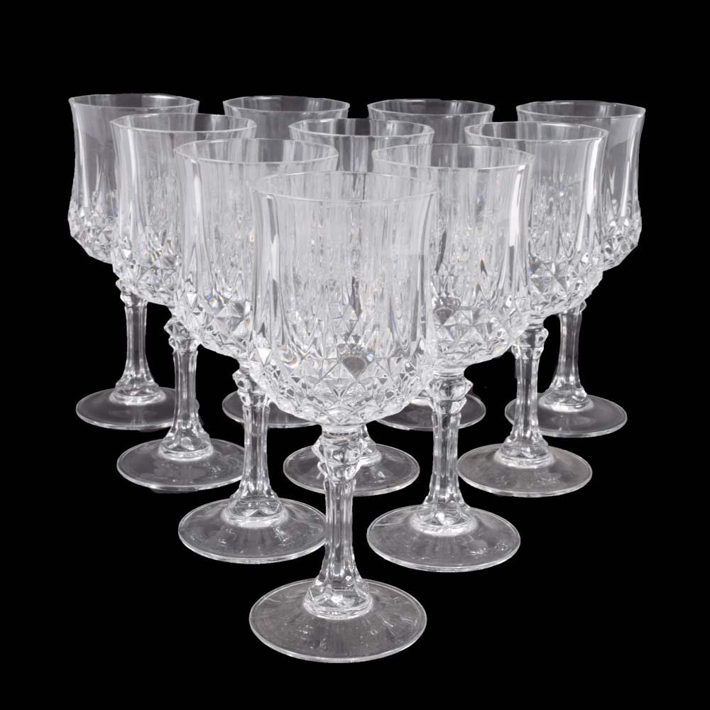 """Cristal D'arques """"Longchamp"""" Lead Crystal Goblets"""