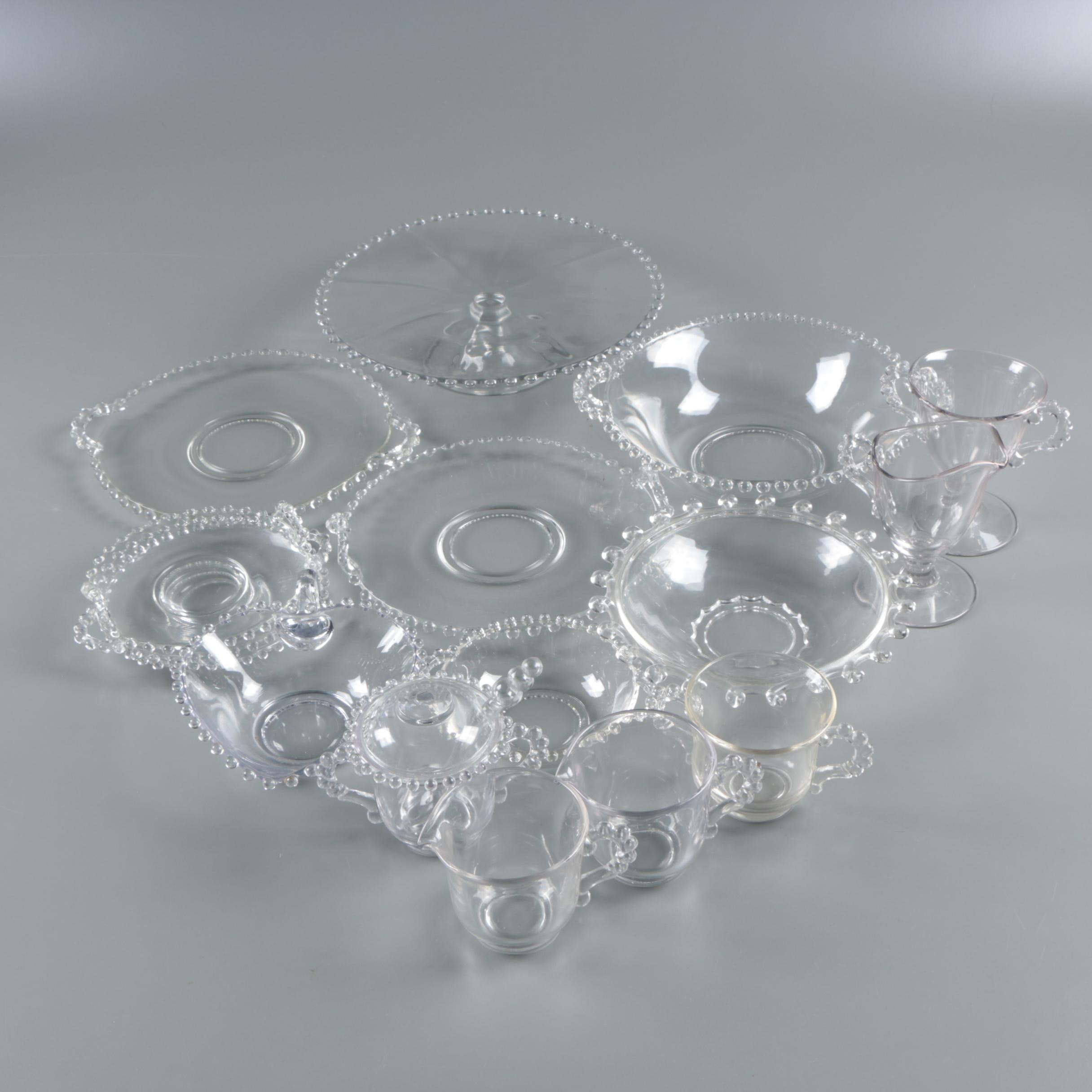 """Vintage Imperial-Glass Ohio """"Candlewick"""" Glass Serveware"""