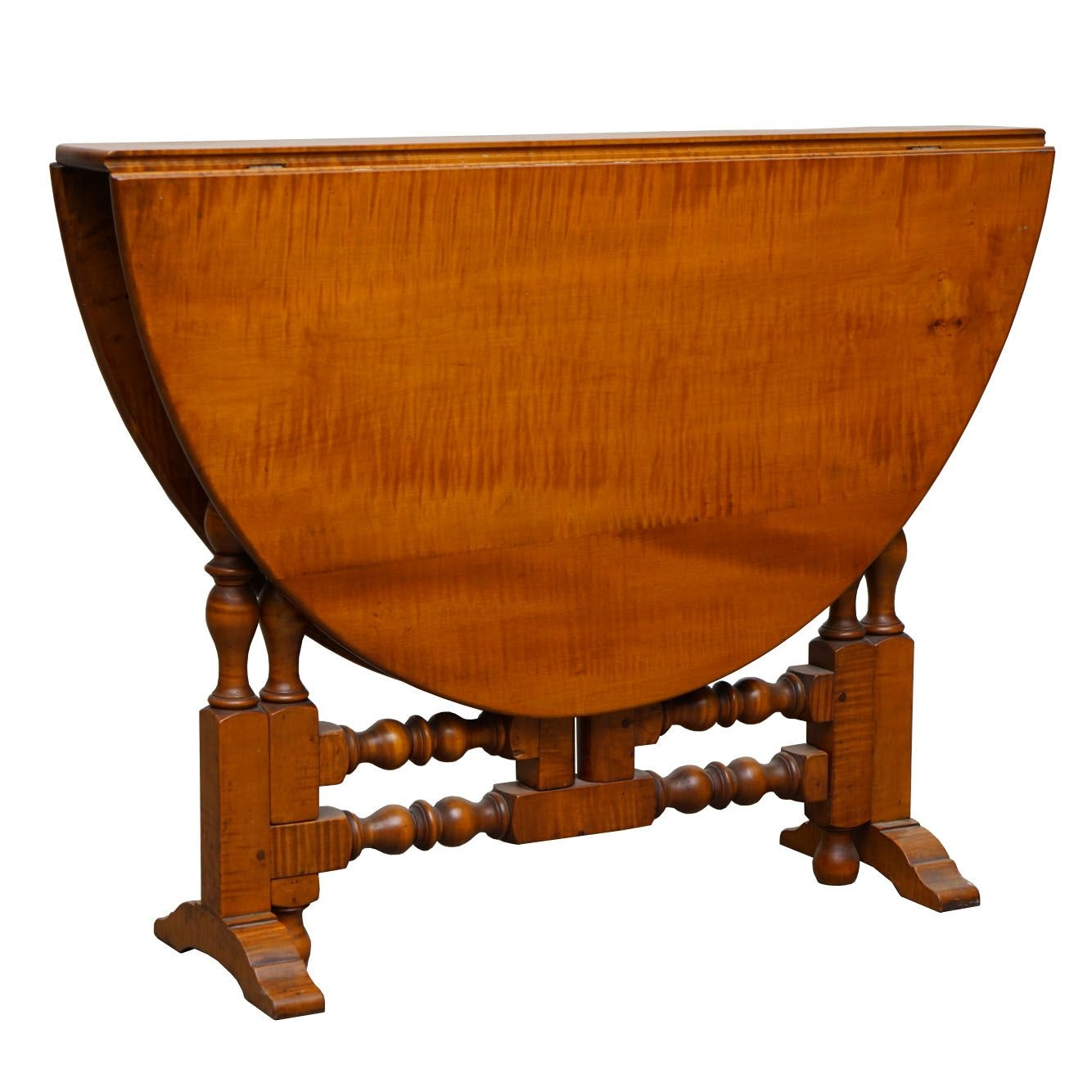 Tiger Maple Gate Leg Table