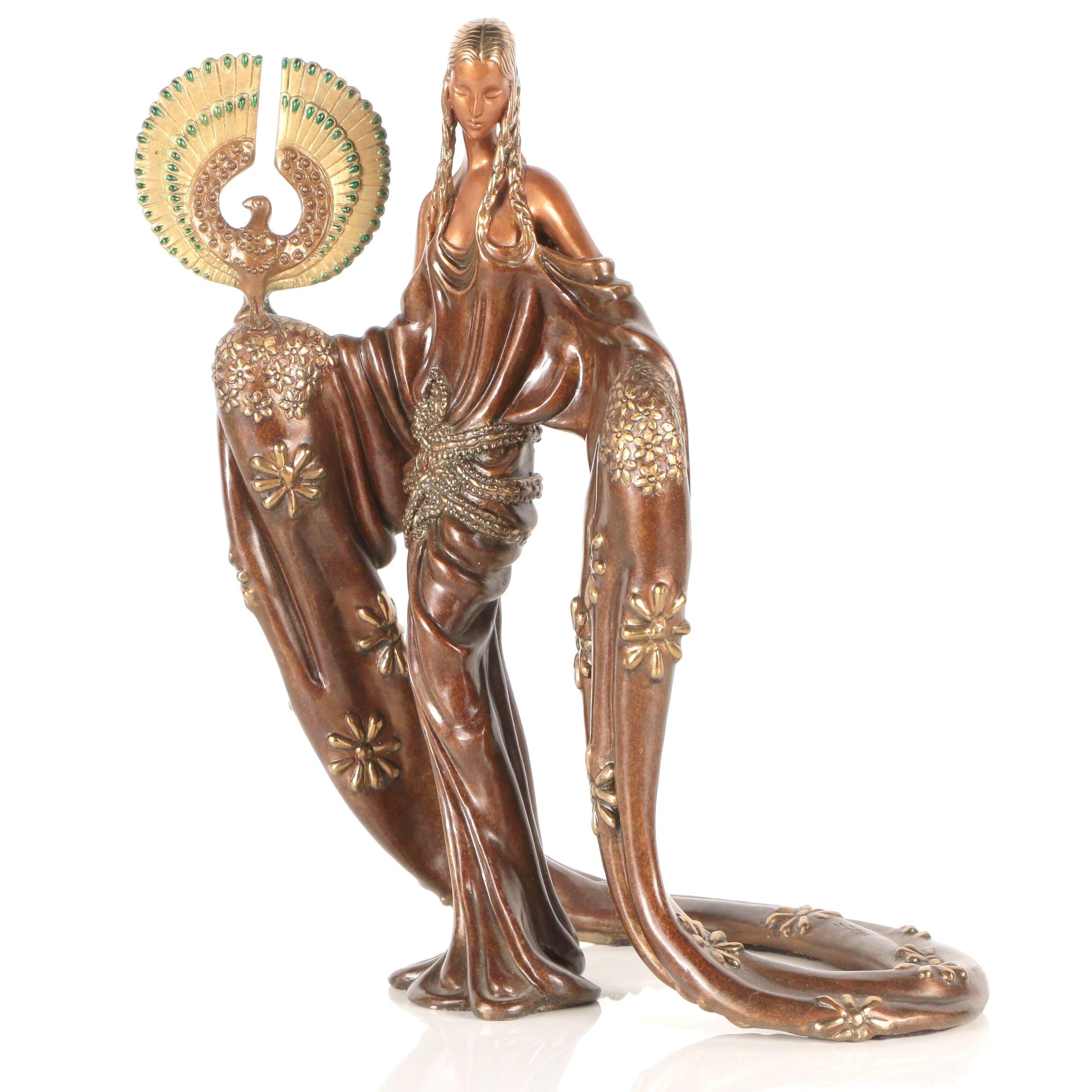 """Erté Bronze Sculpture """"Wisdom"""""""