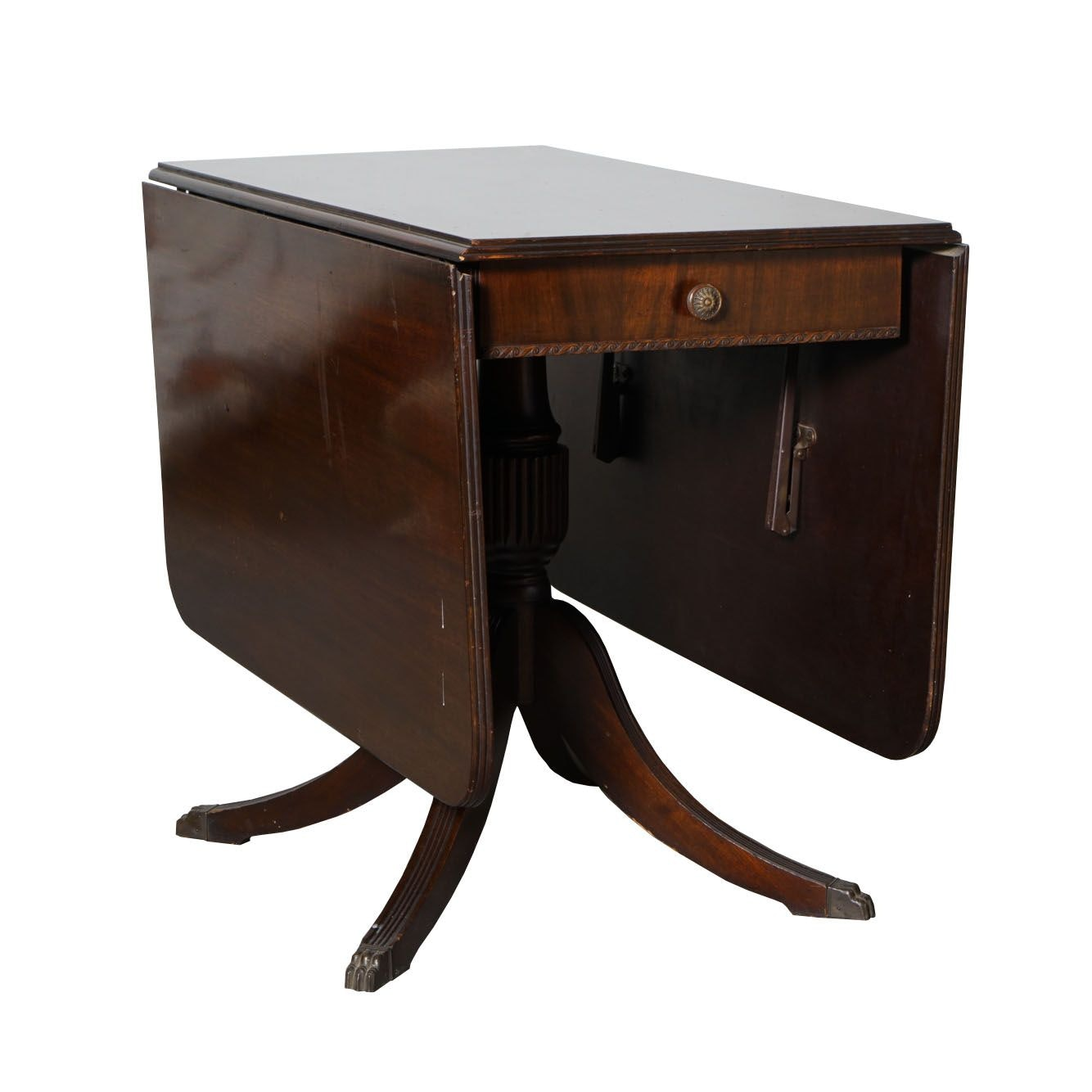 Phyfe Style Drop Leaf Side Table