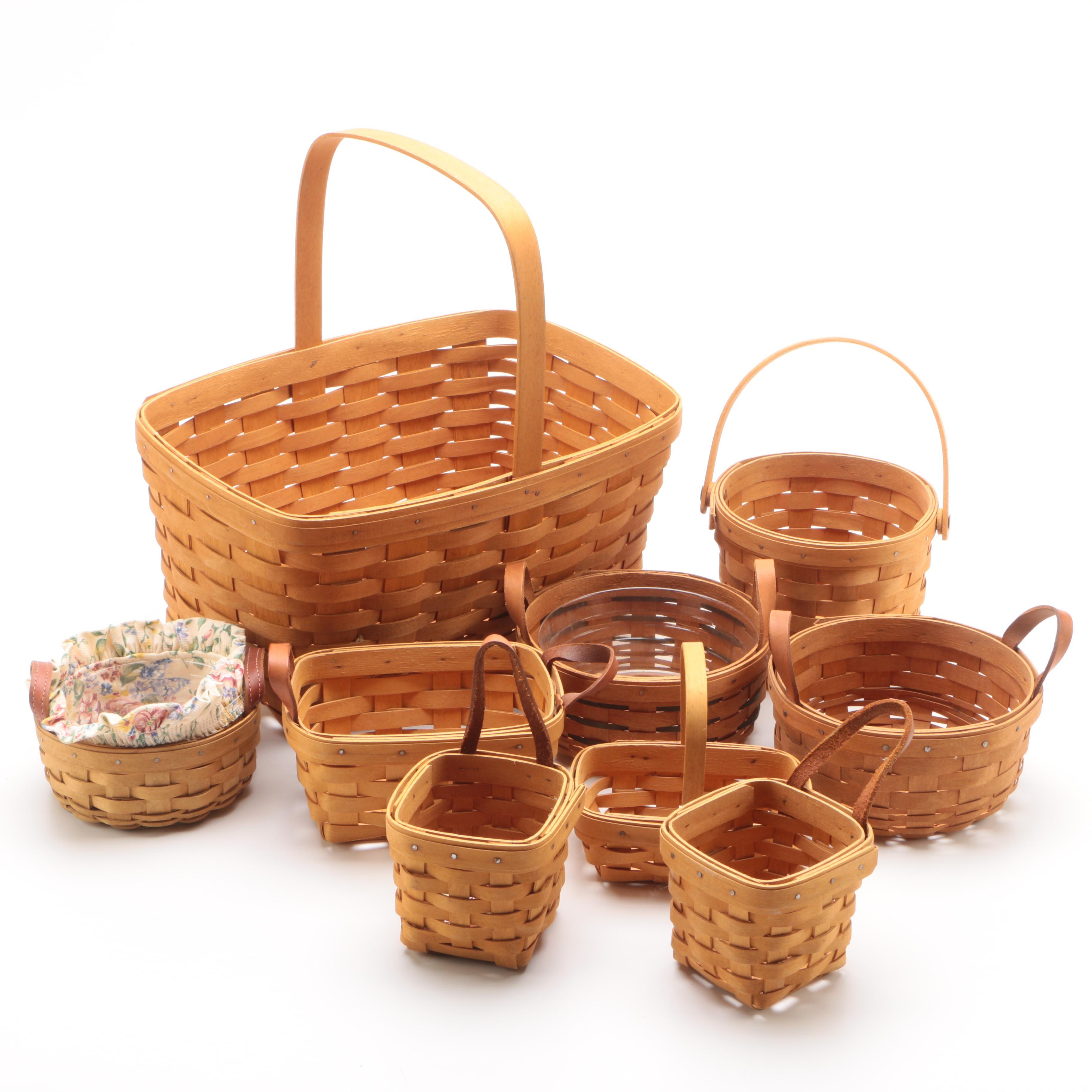 Longaberger Handled Baskets, 1993-2004