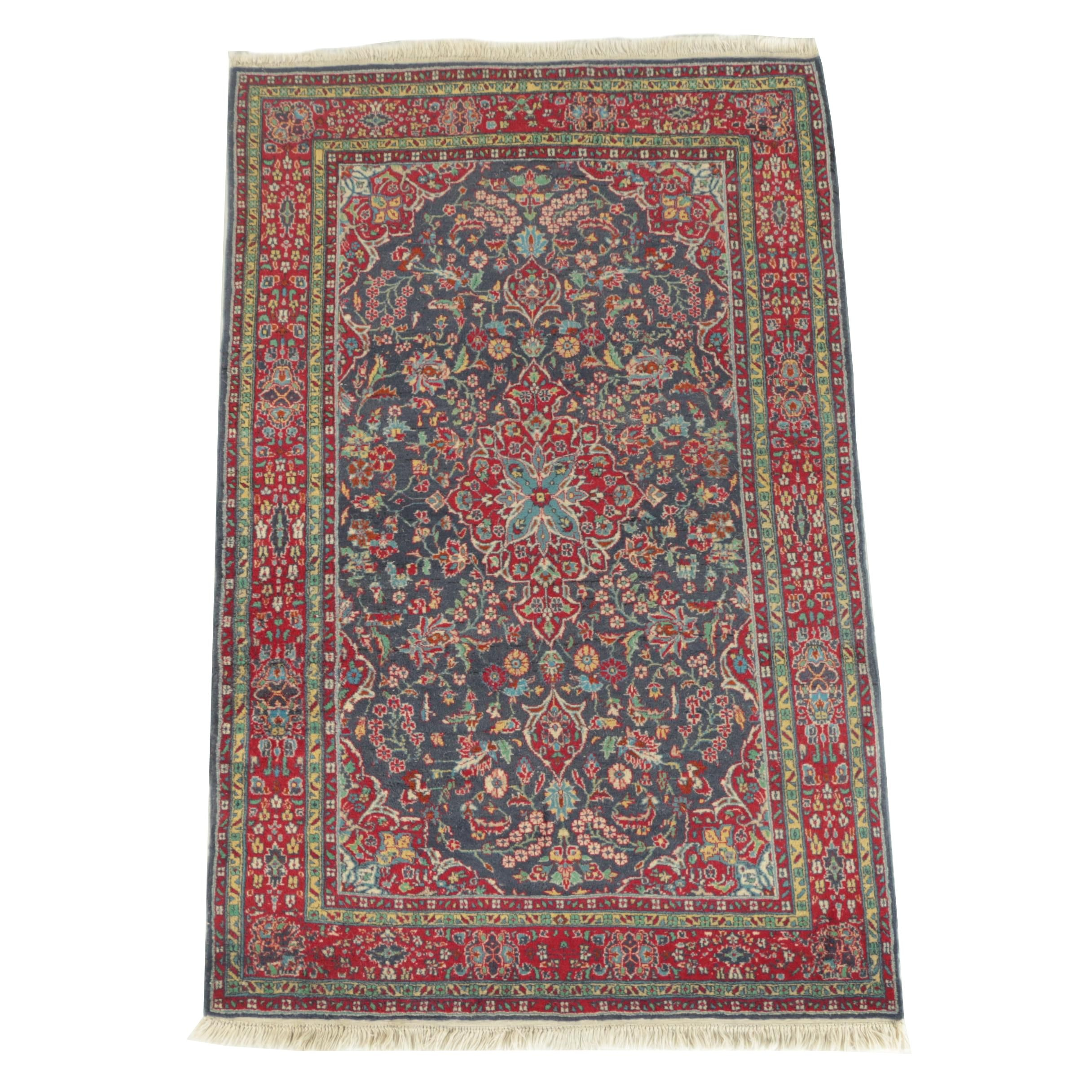 Hand Knotted Indo-Persian Wool Area Rug