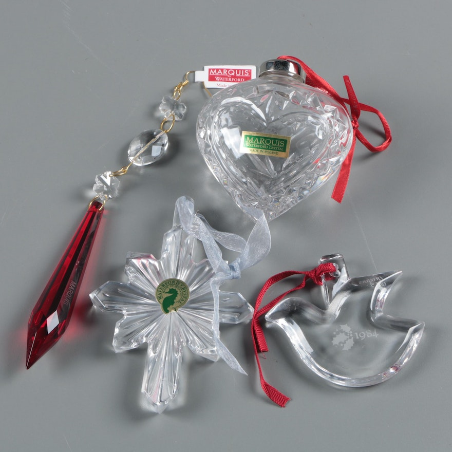 marquis by waterford and orrefors crystal christmas ornaments - Crystal Christmas Decorations
