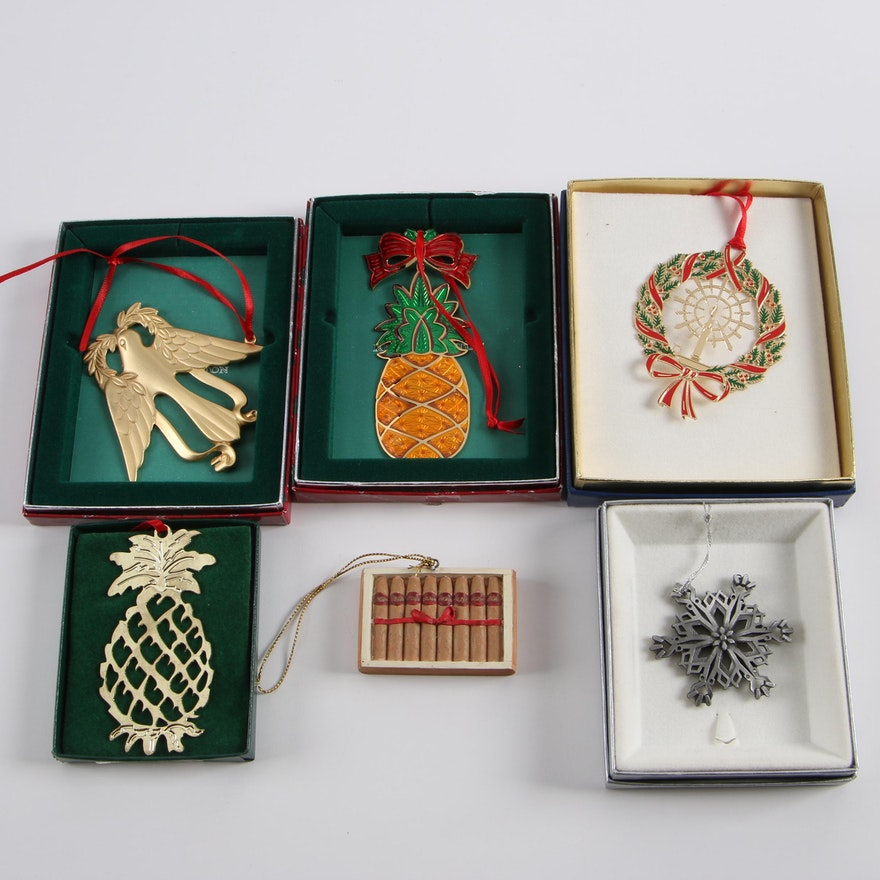 - Christmas Ornaments Featuring Reed & Barton And Wallace Silversmiths