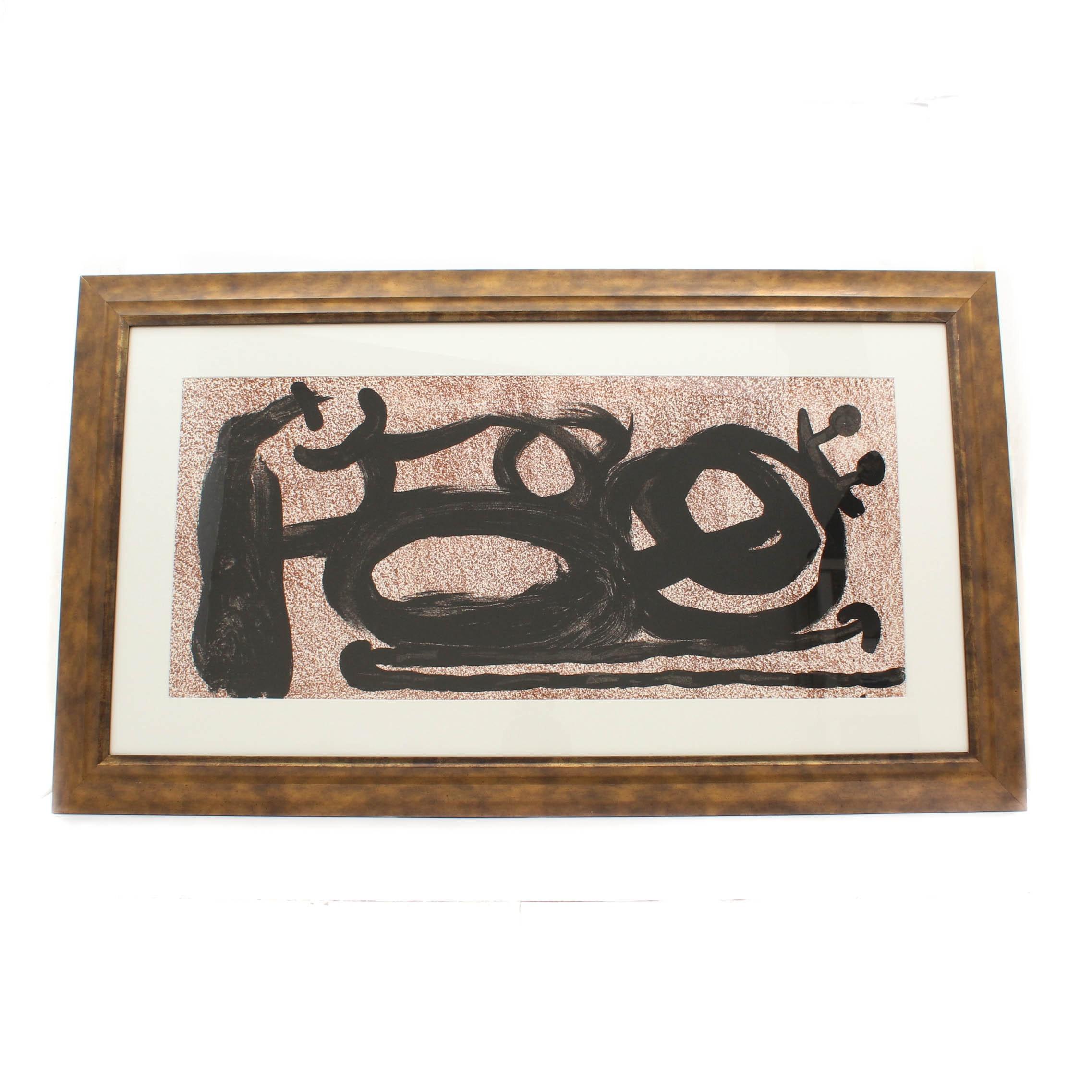 """Joan Miró Triple Page Lithograph from """"Derrière le Miroir"""""""
