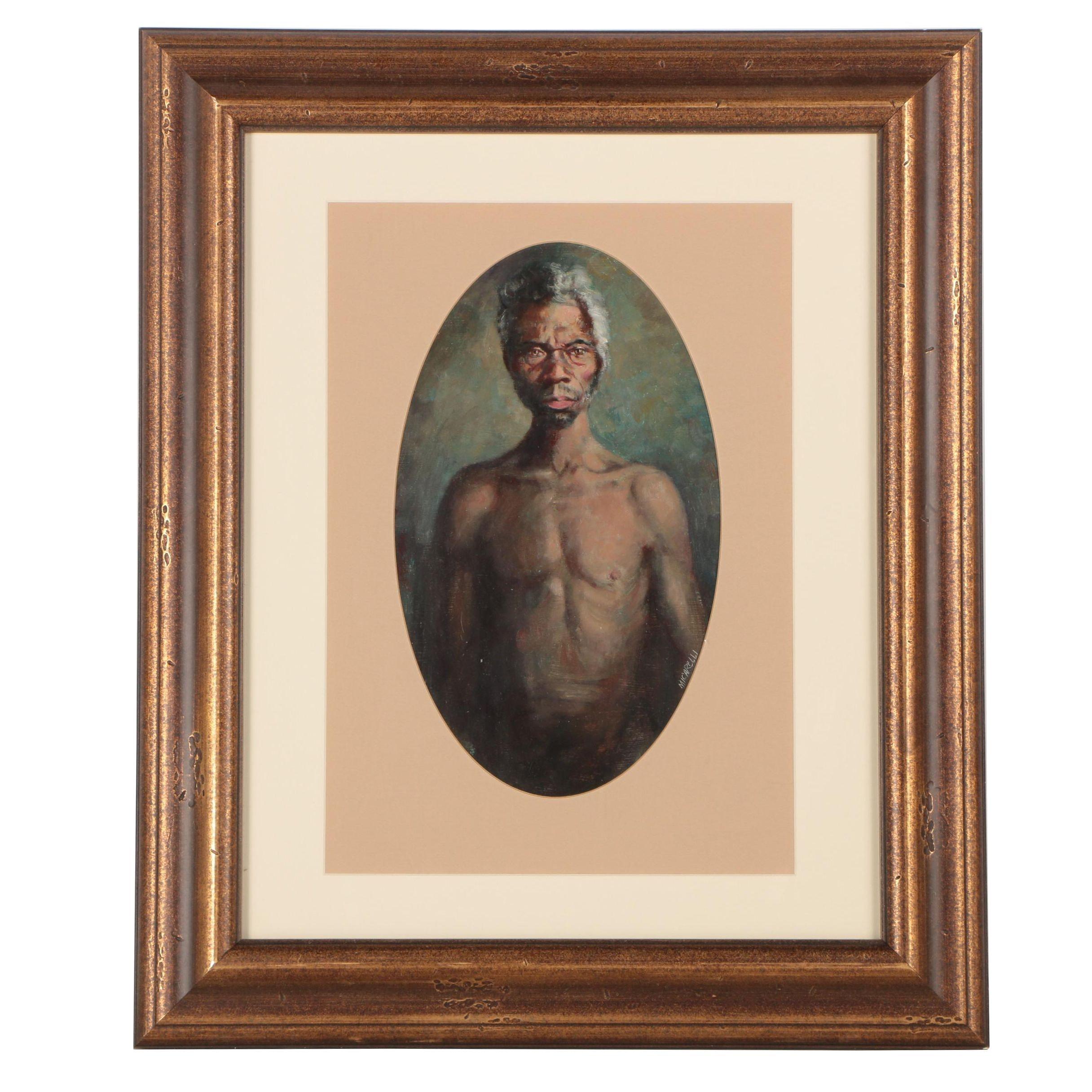Clement Micarelli Portrait Oil Painting