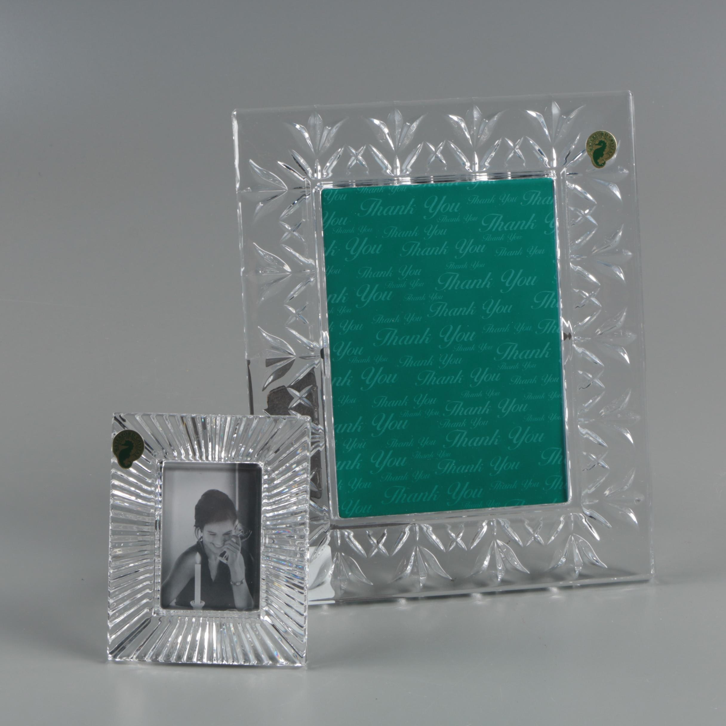 """Waterford Crystal """"Thank You"""" and """"Somerset"""" Picture Frames"""