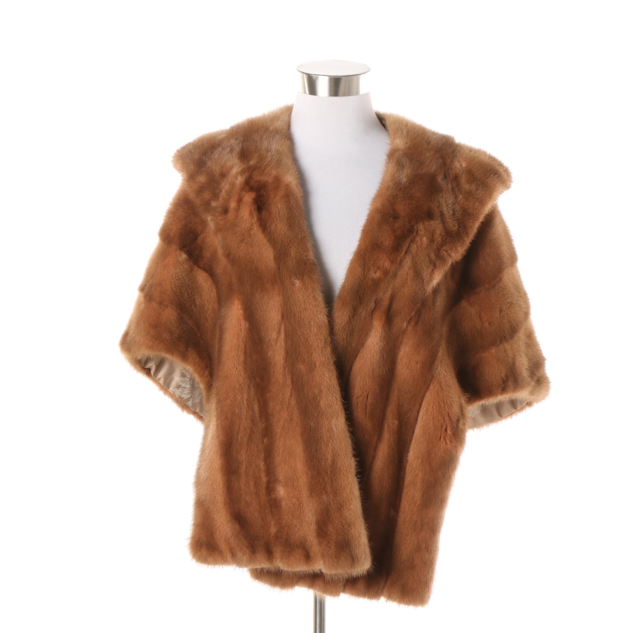 Vintage Bruno Furs of Chicago Mink Fur Stole