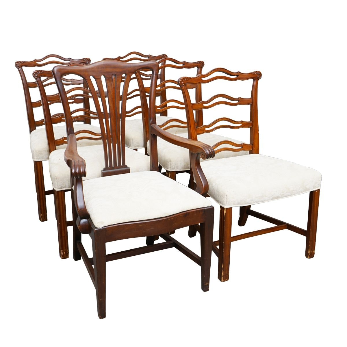Vintage Hepplewhite Style Dining  Chairs