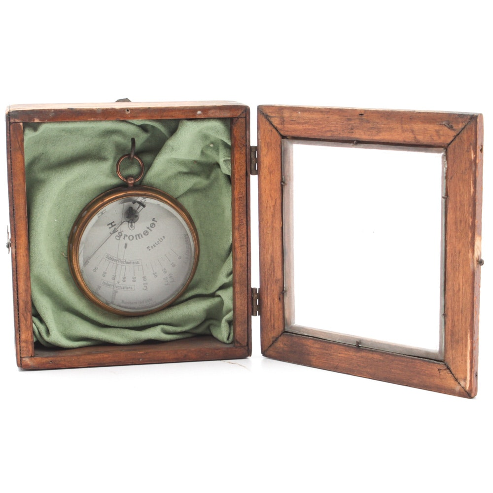 Vintage Hygrometer and Boy Scout Compass