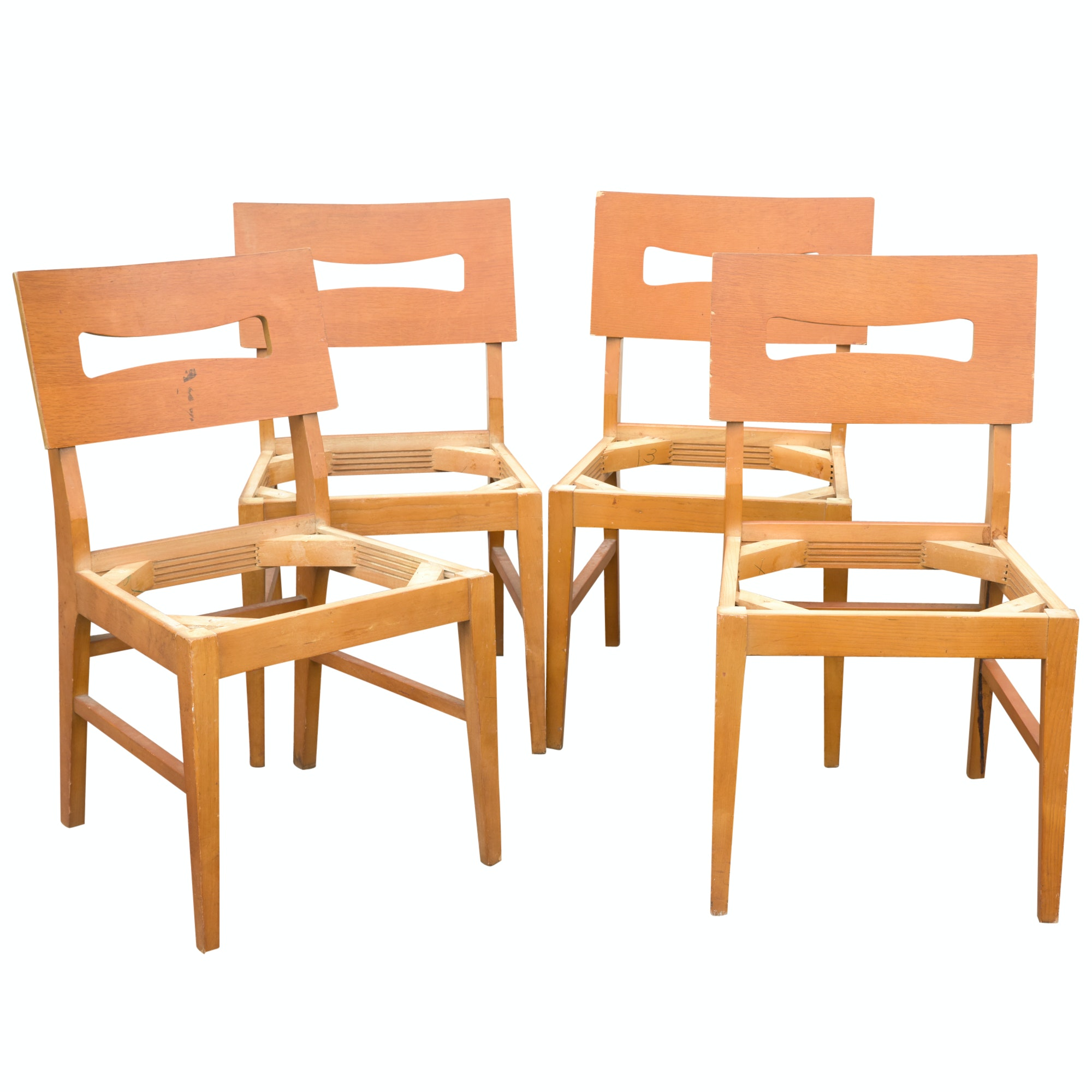 Mid Century Modern Dining Chair Frames by Stanley Furniture