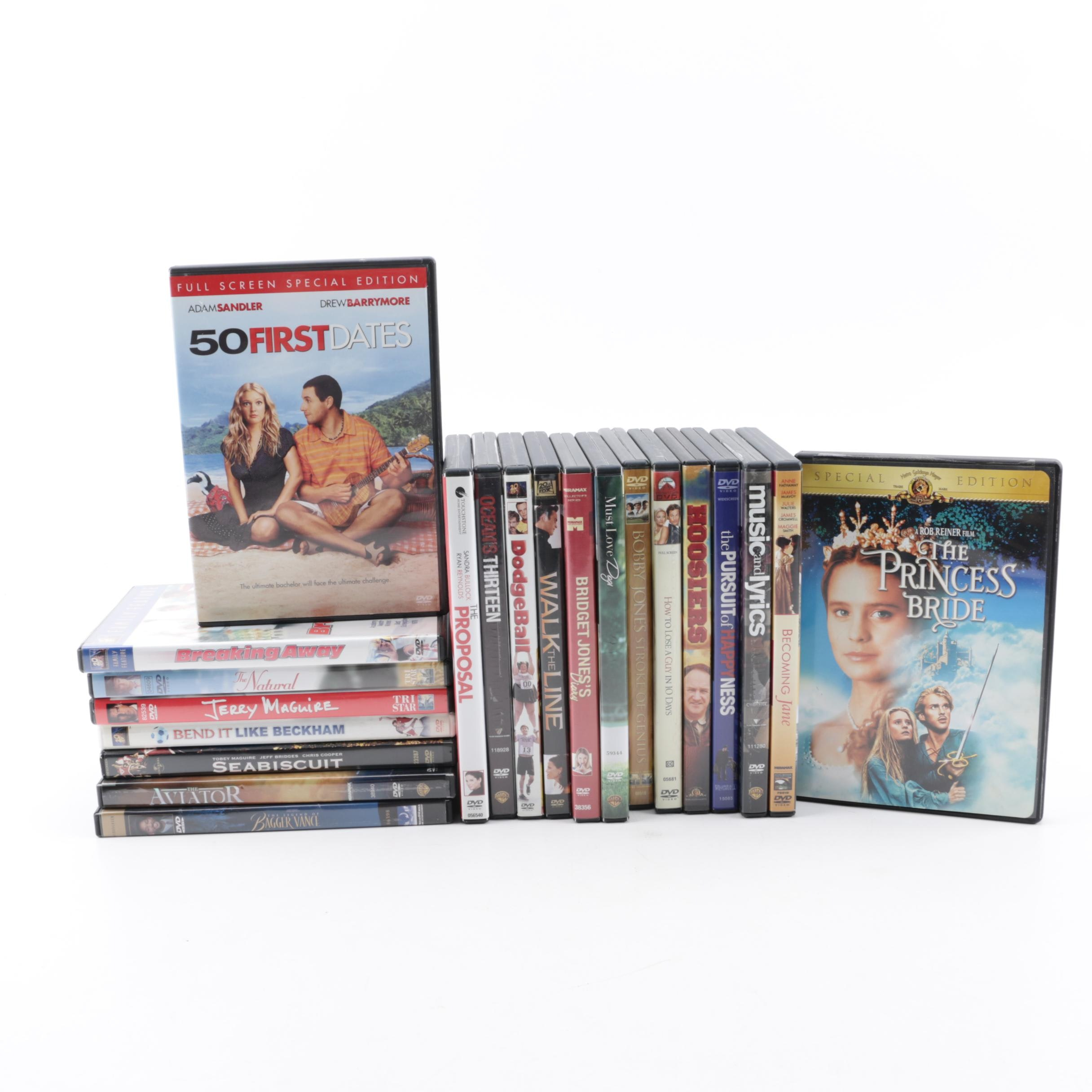 """Comedy, Drama and Romance DVDs including """"Breaking Away"""", """"Ocean's Thirteen"""""""