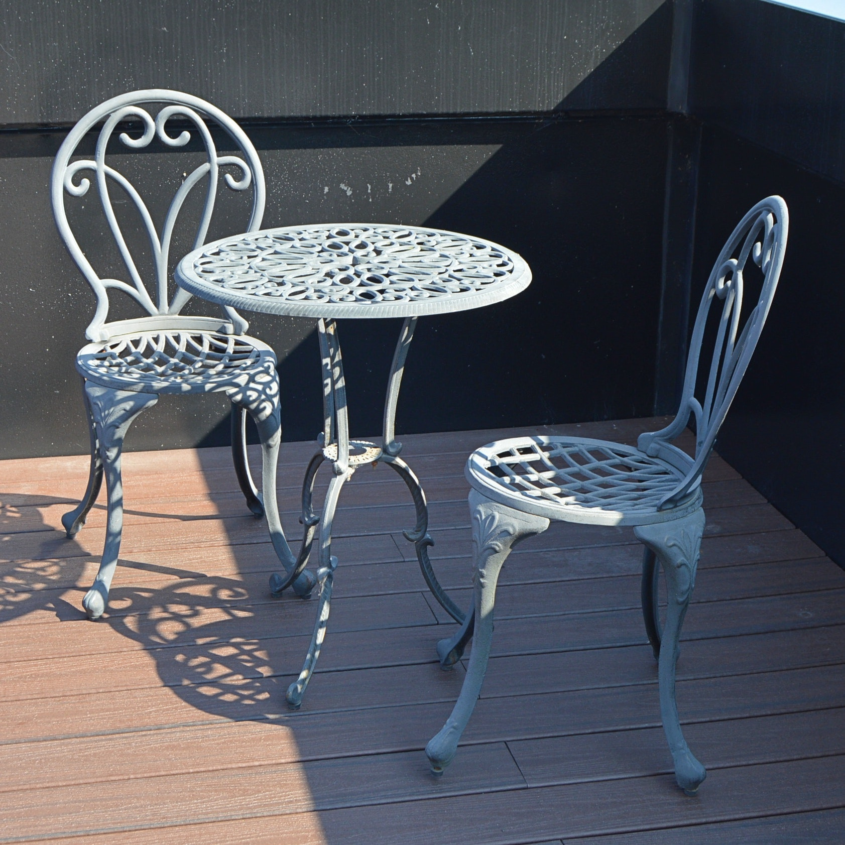 Metal Patio Set with Table and Chairs