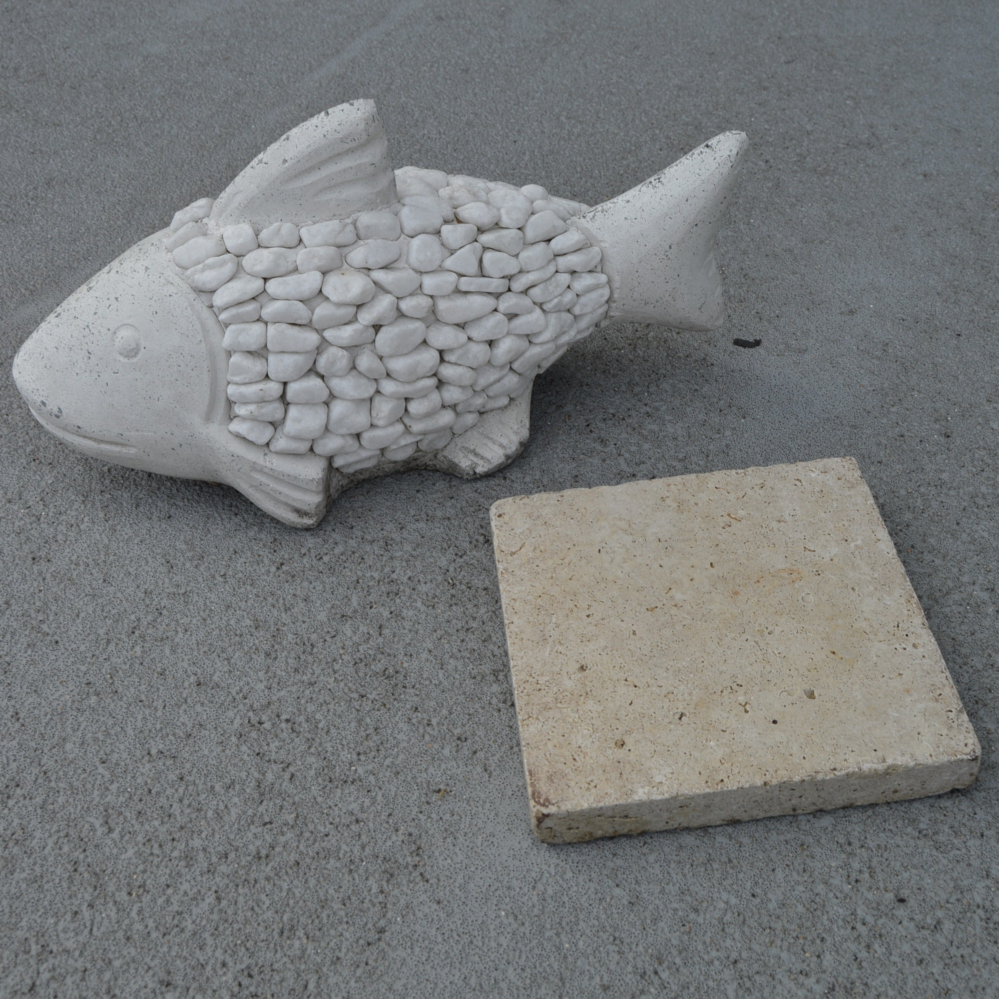 Stone Fish with Limestone Base