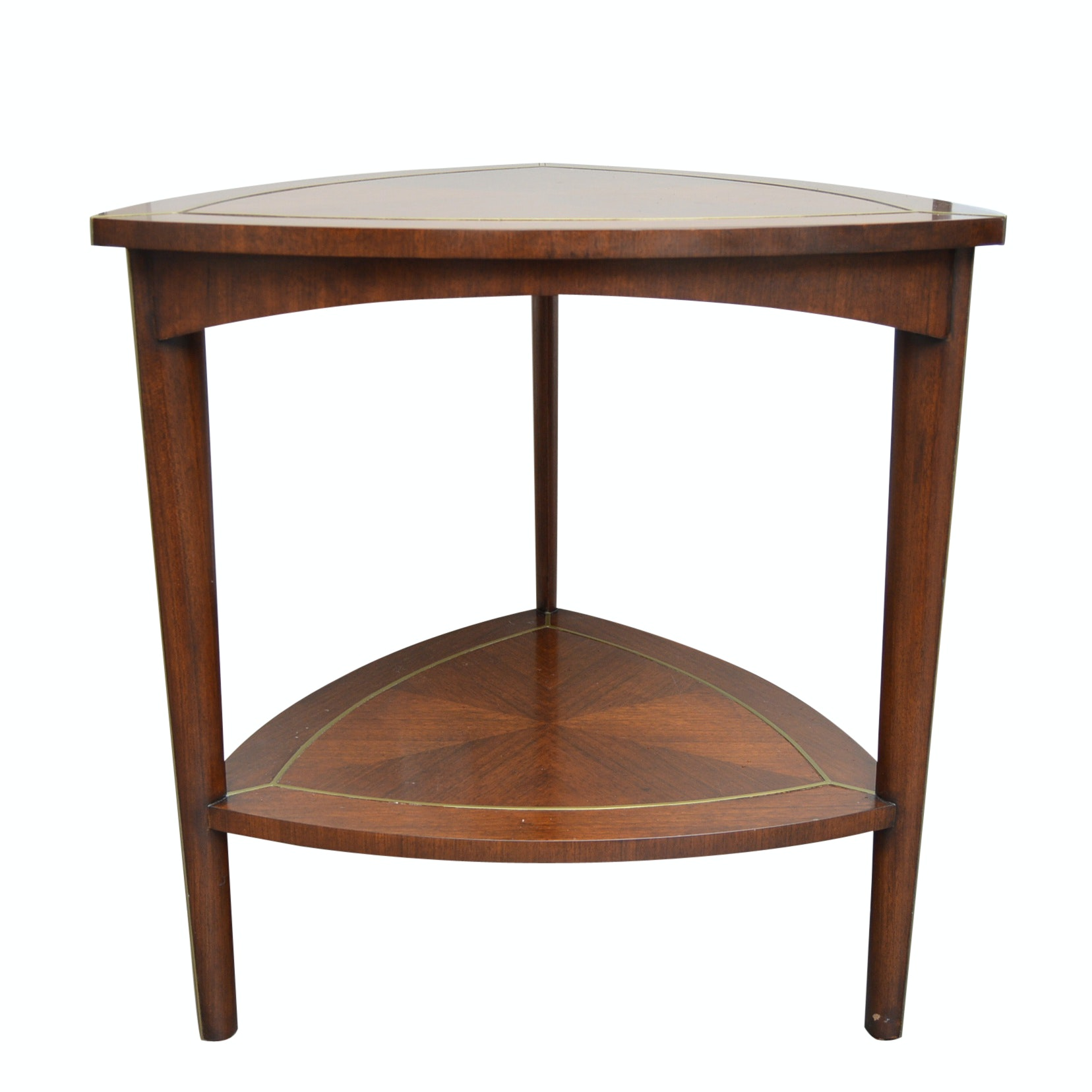 Neoclassic Style Mahogany Hyedua Triangular Side Table from Jonathan Charles