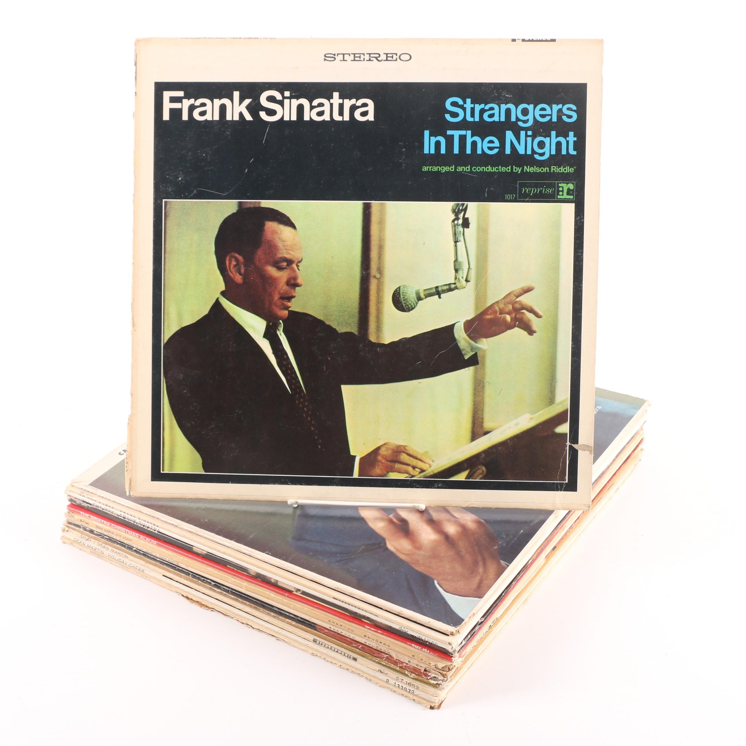 Vintage Frank Sinatra and Dean Martin Jazz Records