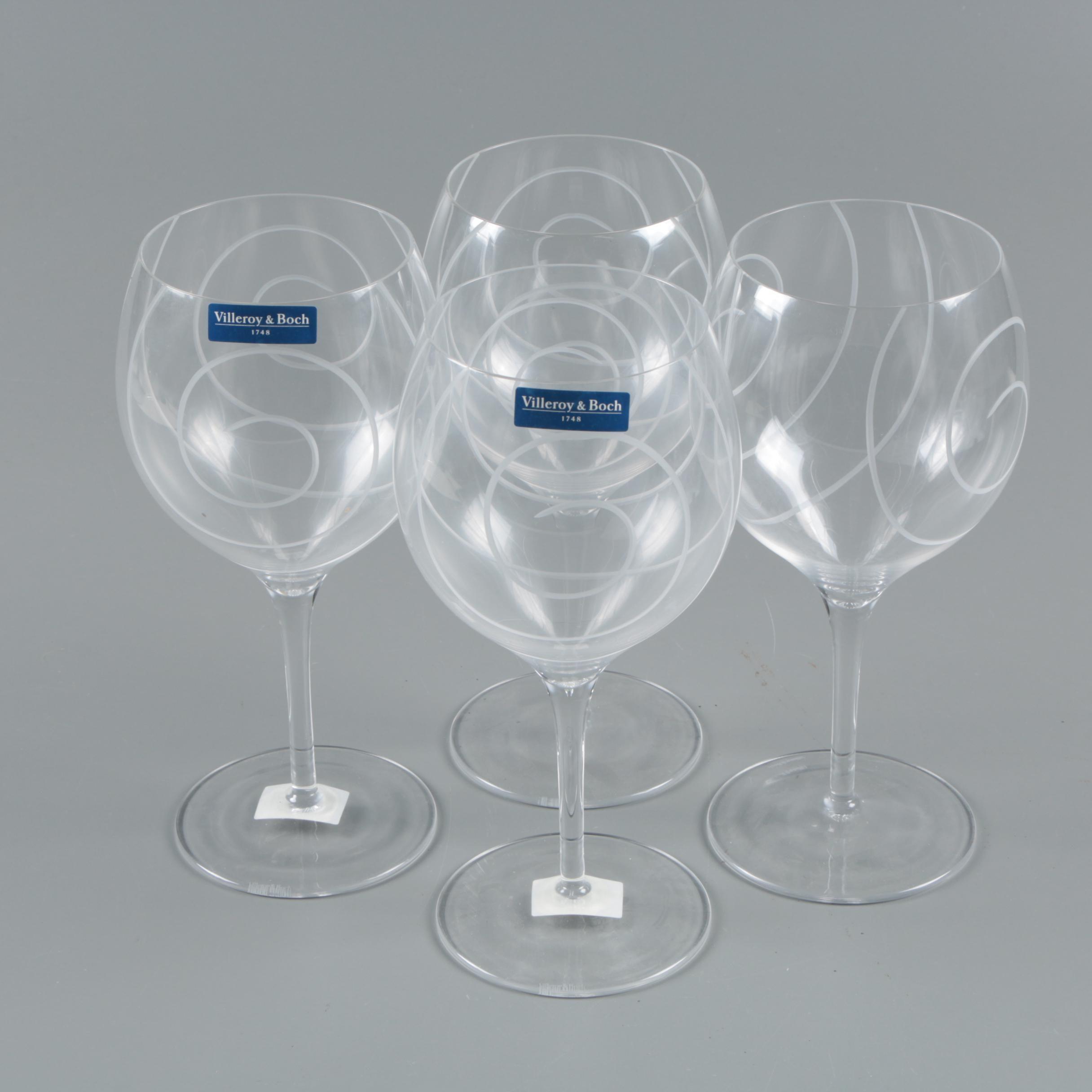 Villeroy & Boch Swirled Wine Glasses