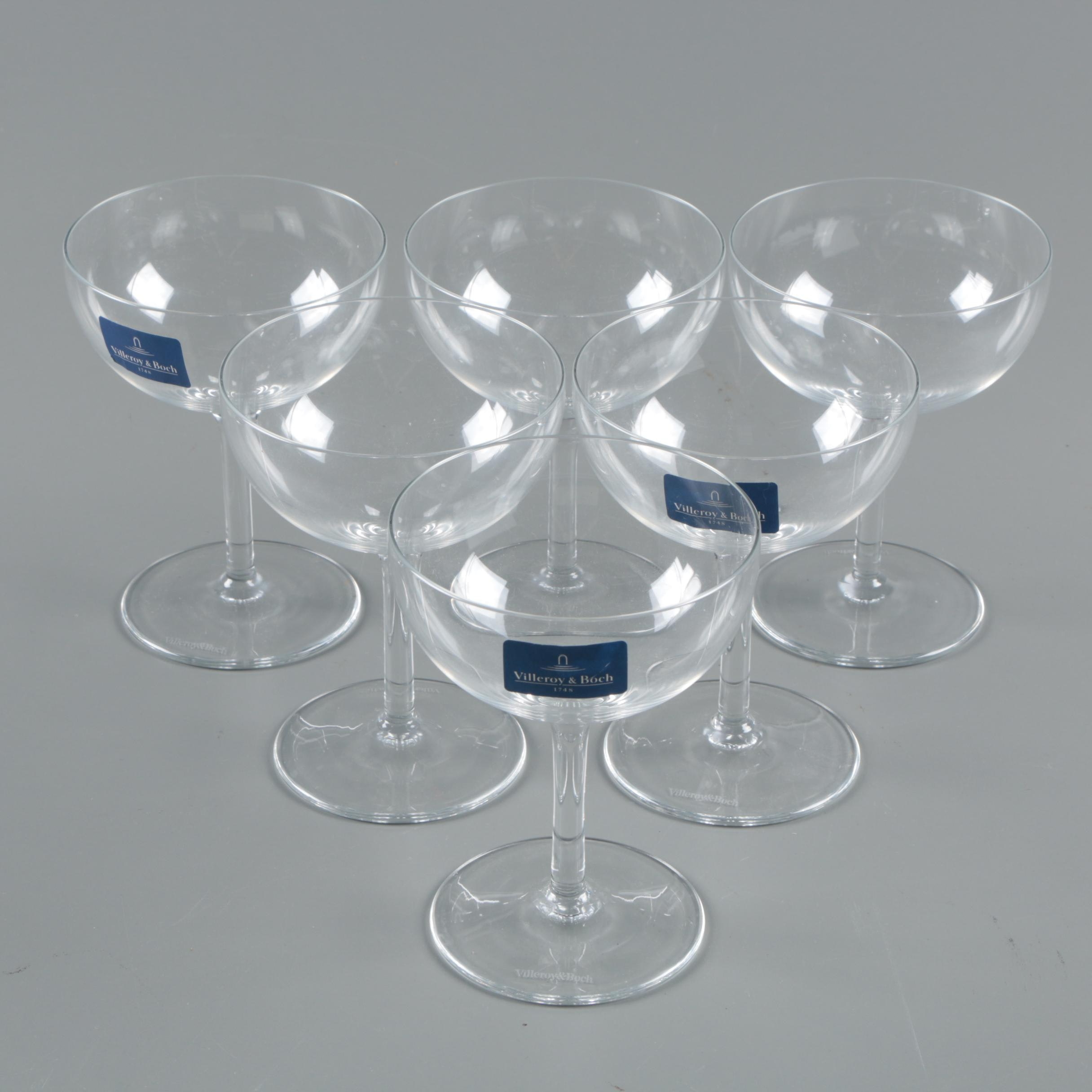 Villeroy & Boch Crystal Champagne Coupe Glasses