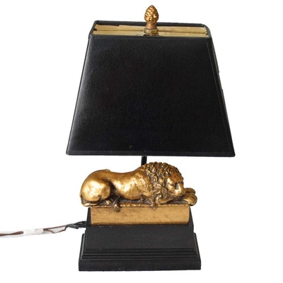 Recumbant Lion Desk Lamp