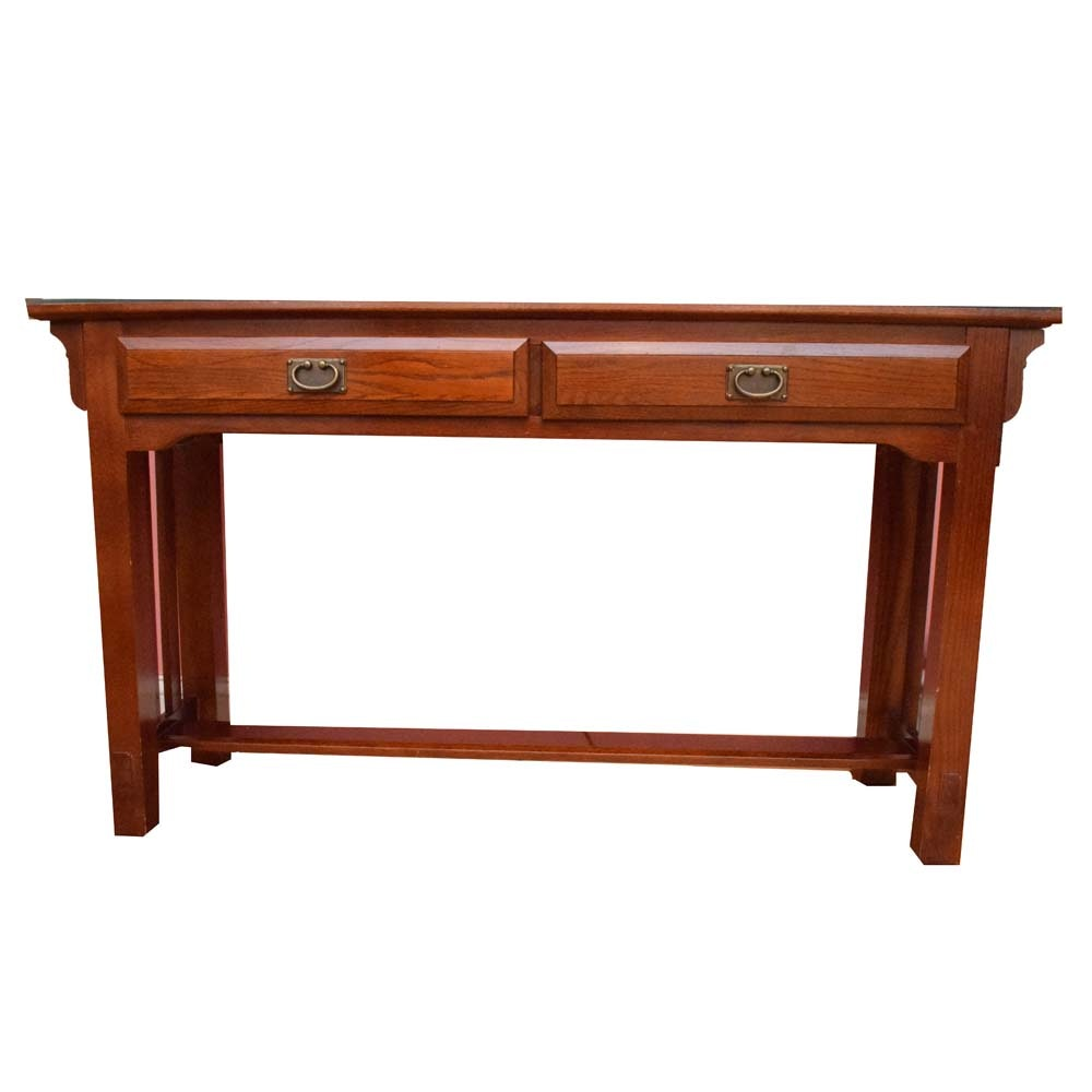 Arts Crafts Style Sofa Console Table Ebth