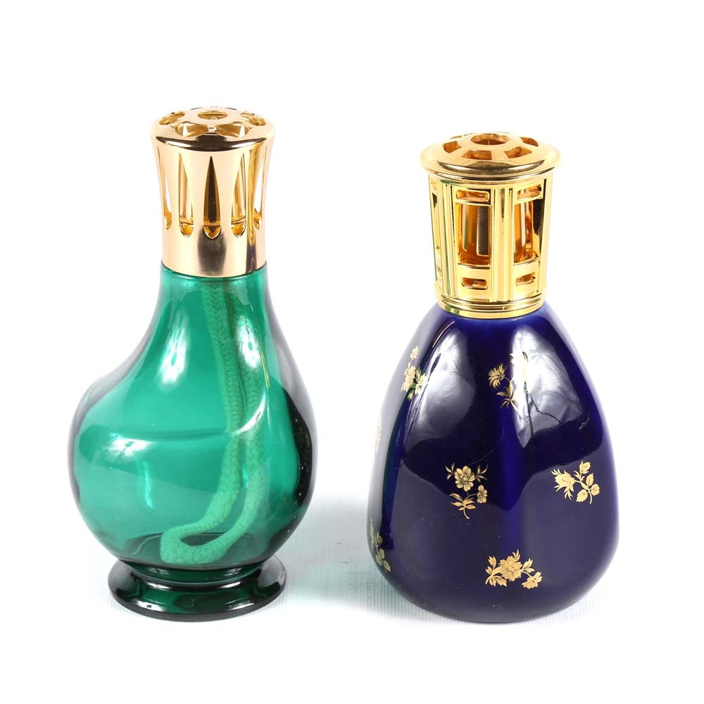 Lampe Berger Oil Lamps Featuring Limoges