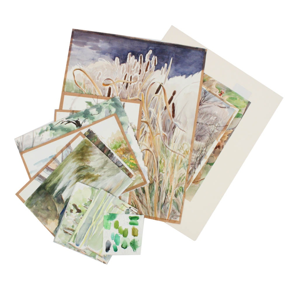 June Carver Roberts Archive of Watercolor Landscape Studies