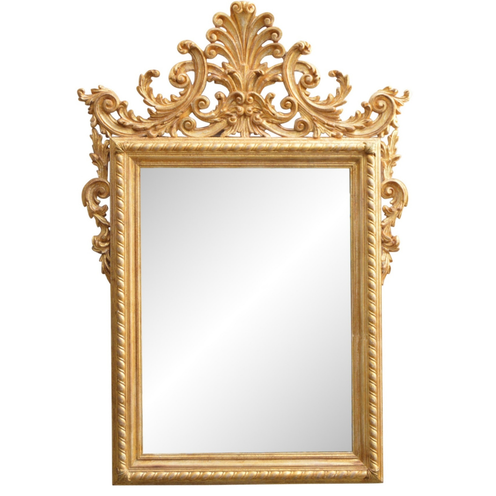 Louis XVI Style Gilded Beveled Wall Mirror from Louis Soloman