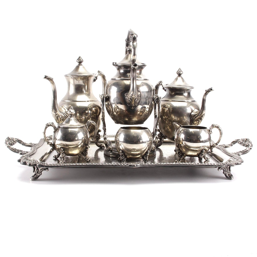 Vintage Sheridan Silver Co Silver Plate Tea And Coffee