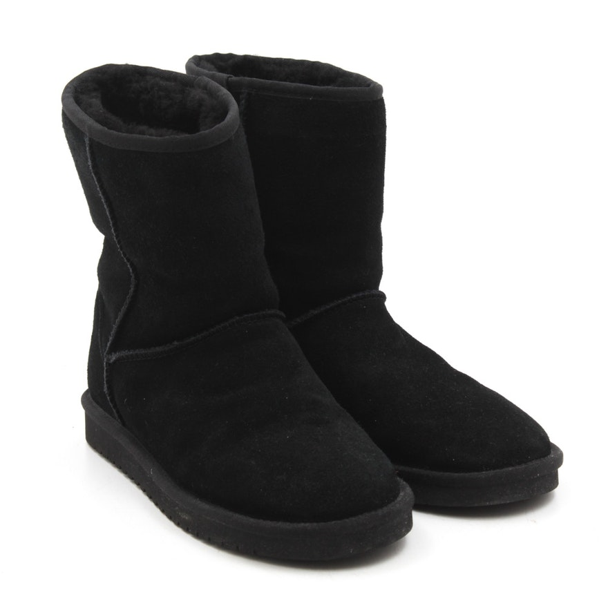 322dba82752 Koolaburra by Ugg Black Suede and Sheepskin Boots