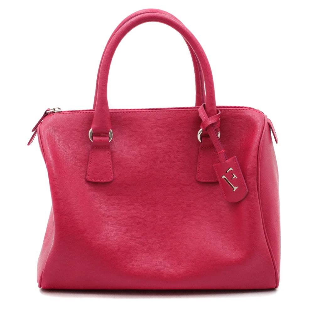 Furla Italian Magenta Pink Leather Handbag
