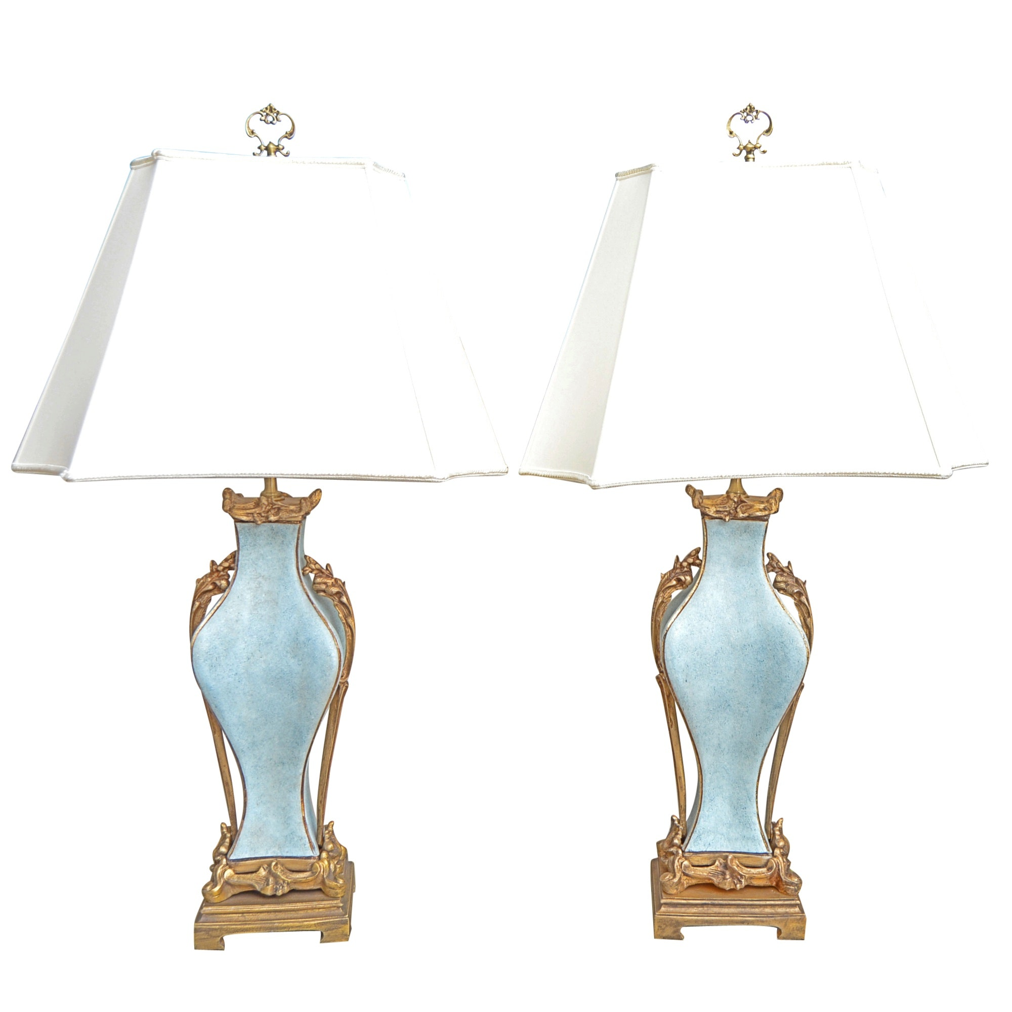Sèvres Style Porcelain Table Lamps After Paul Milet