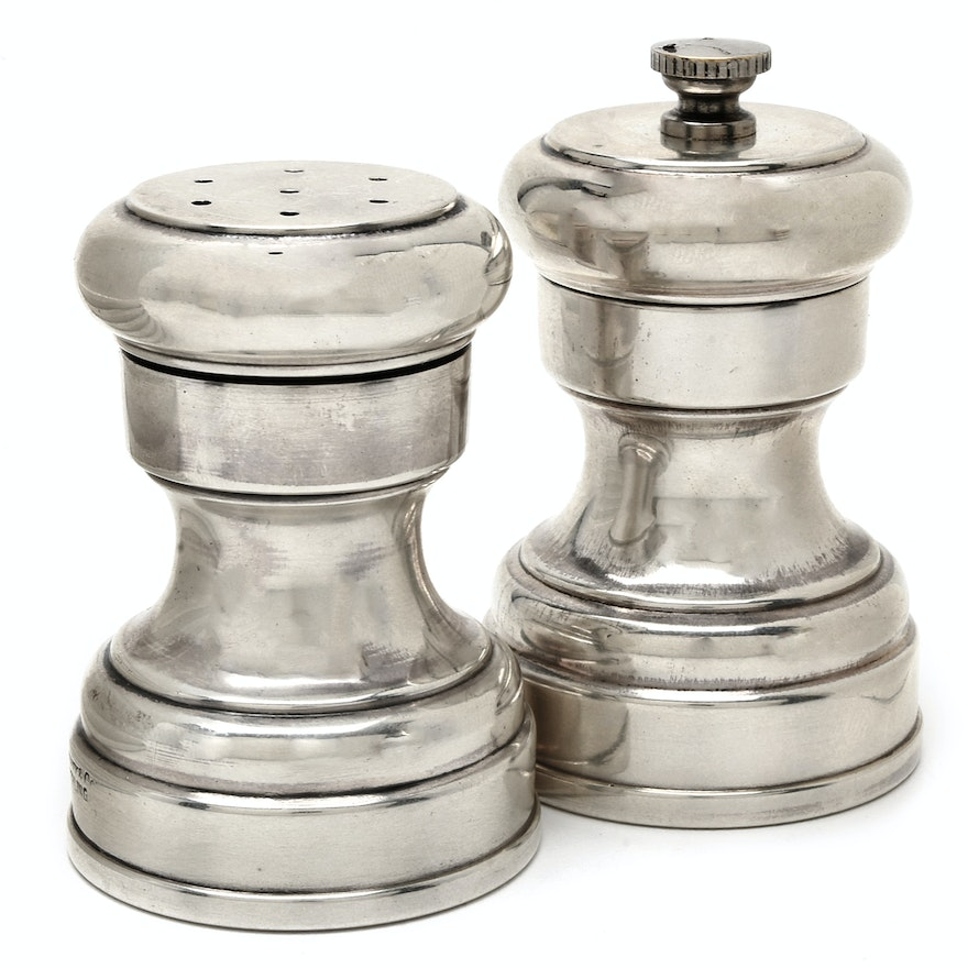 "Tiffany & Co. Sterling Silver ""Capstan"" Salt and Pepper Shakers"