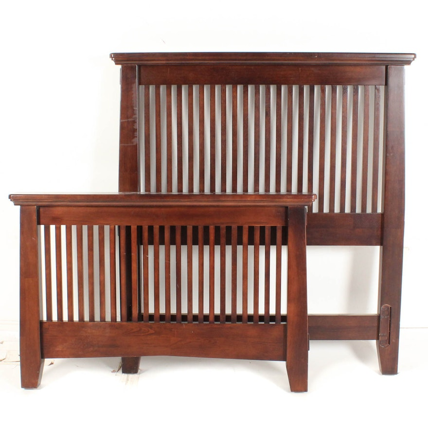 American Signature Mission Style Twin Size Bed Frame