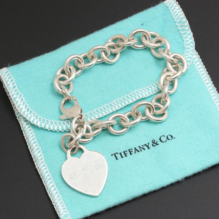 4f7dfdab089 Tiffany   Co. Sterling Silver Heart Charm Bracelet   EBTH