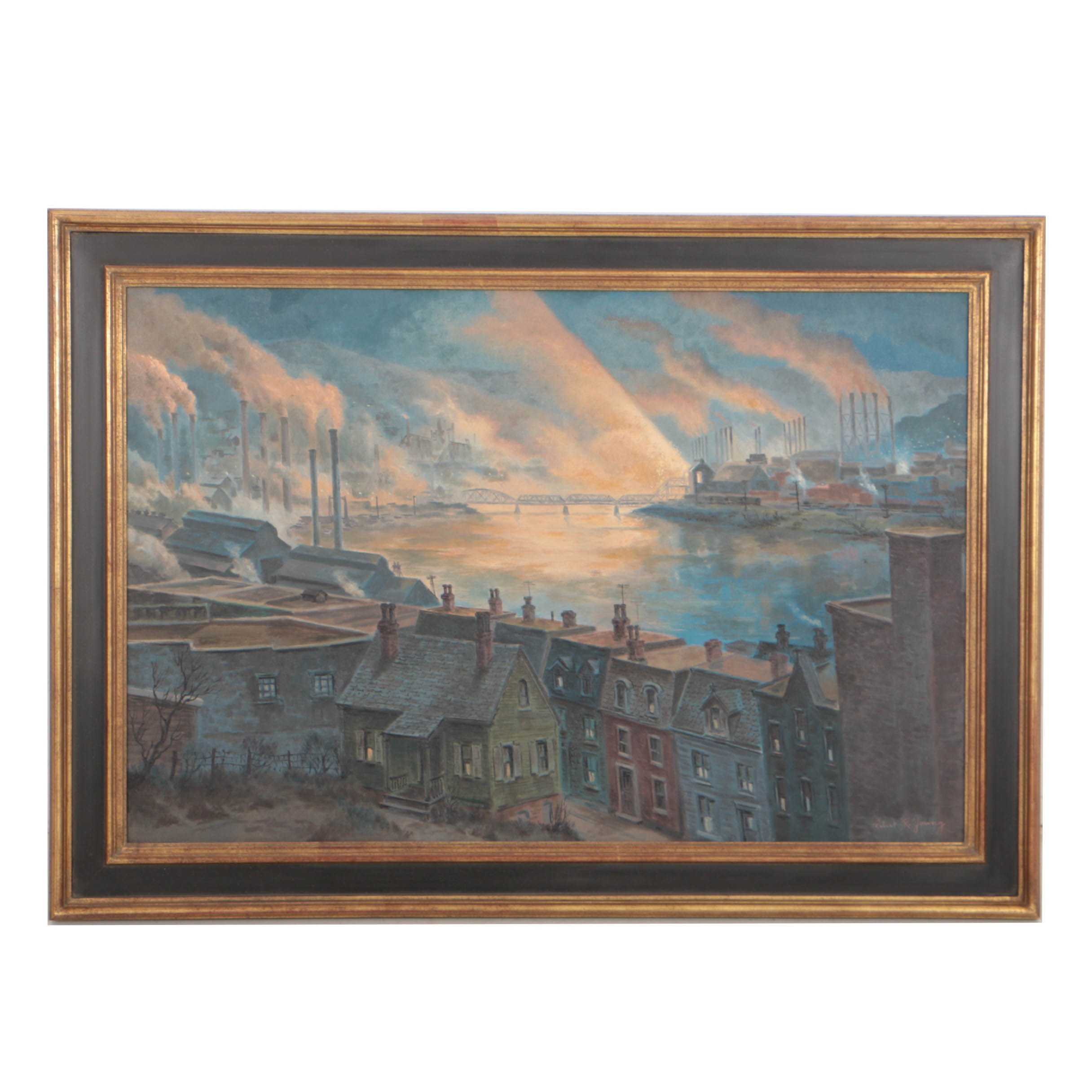 Robert R. Young Oil Painting