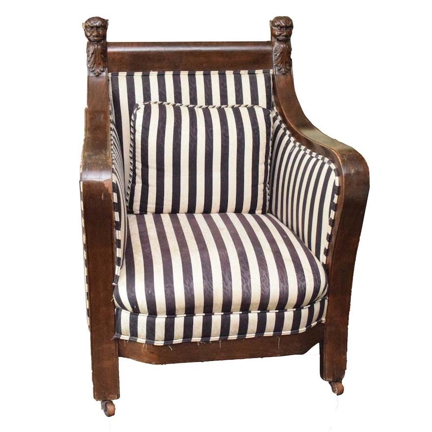 Antique Empire Style Armchair