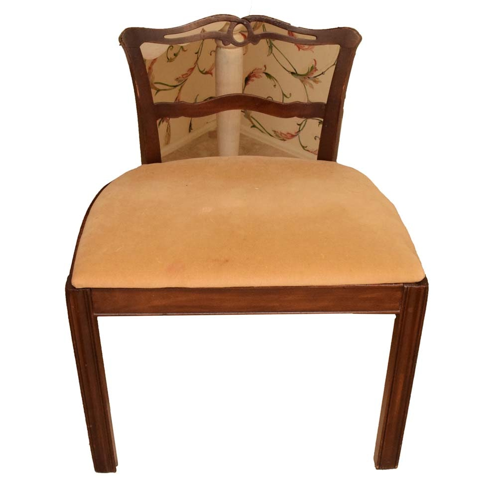 Vintage Ribbon Back Vanity Chair